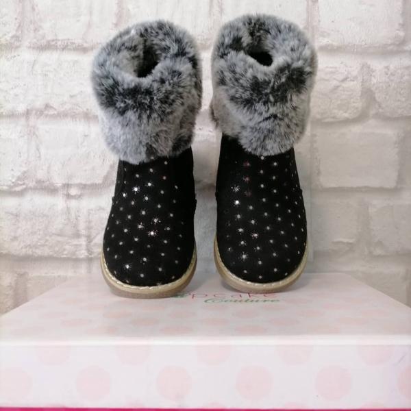 Ботинки с опушкой