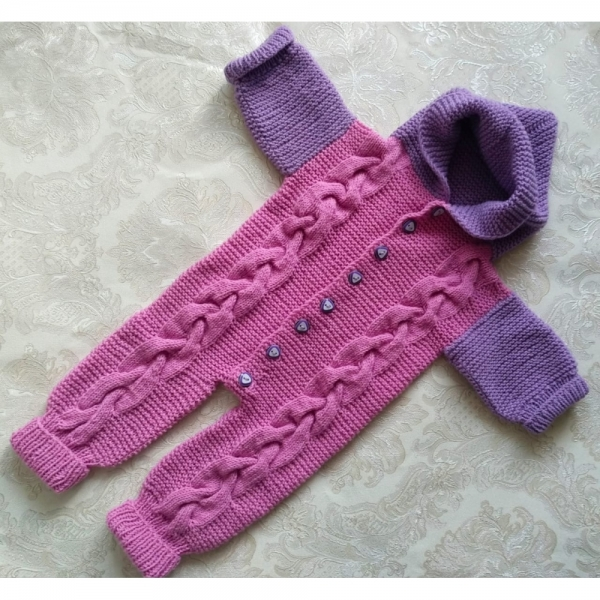Комбинезон вязанный ручной вязки