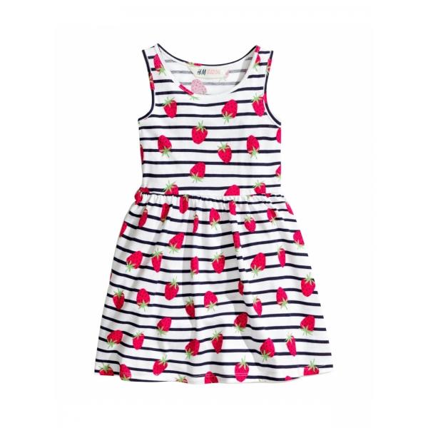 Платье на девочку Клубничка