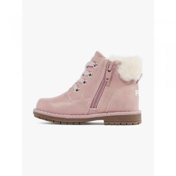 Ботинки деми розовые